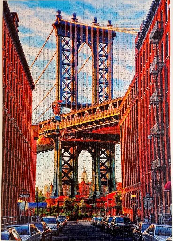 Educa Puzzle - 17100 - Puente de Manhattan, Nueva York - 1000 piezas
