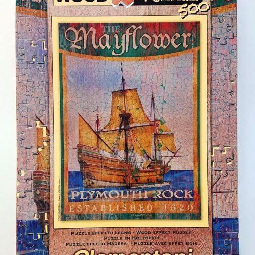 Clementoni Puzzle - 37039 - Wood Puzzle Mayflower - 500 pieces