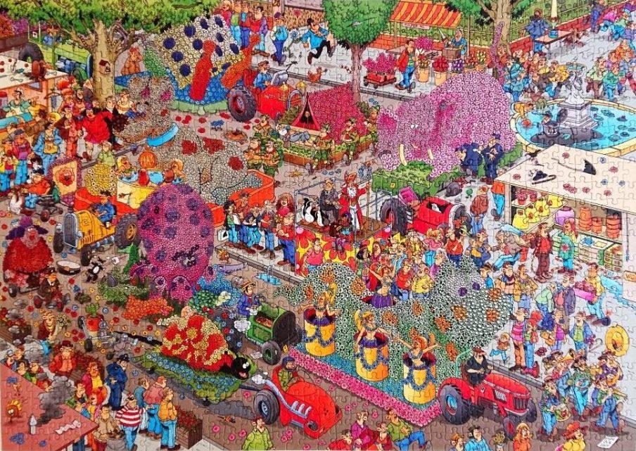 Jumbo Puzzle - Jan van Haasteren - The flower parade - 1000 pieces