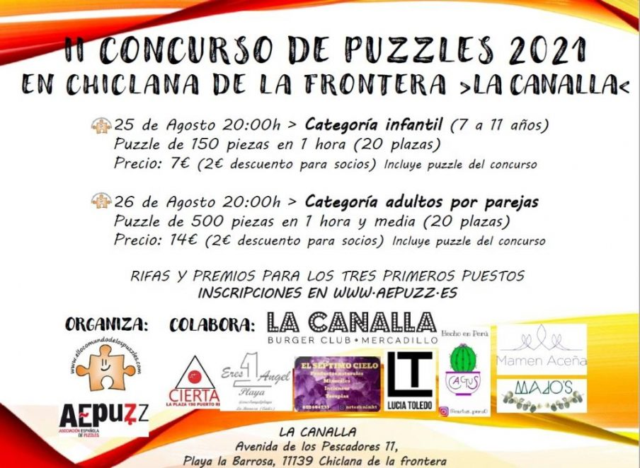 II Concurso de Puzzles 2021 en Chiclana de la Frontera - La Canalla