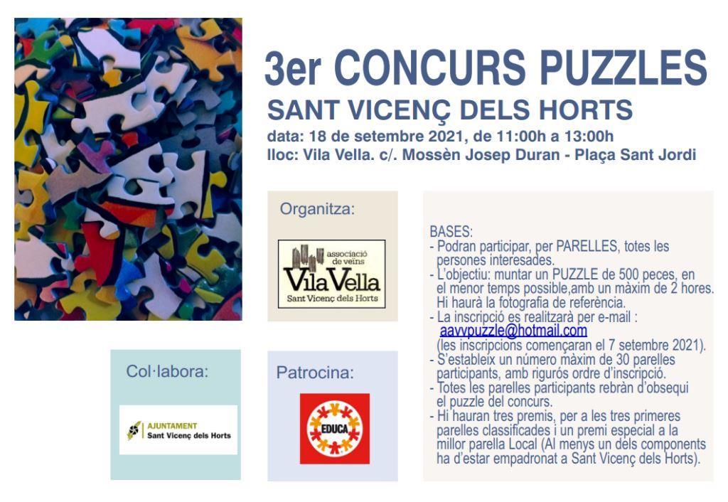 3er Concurs Puzzles Sant Vicenc dels Horts