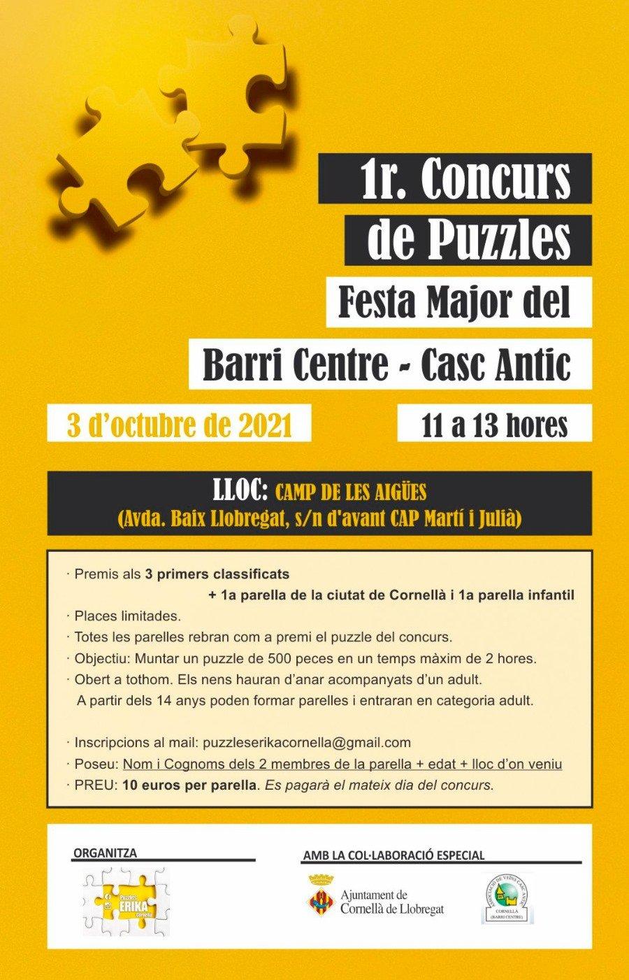 1r Concurs de Puzzles Festa Major del Barri Centre Cornella